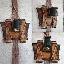 Svietidlá a sviečky - Drevena lampa vedierko - 12202245_