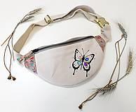 Kabelky - Ľadvinka Butterfly (motýlik) - (kanvas + dubový korok) - 12202977_