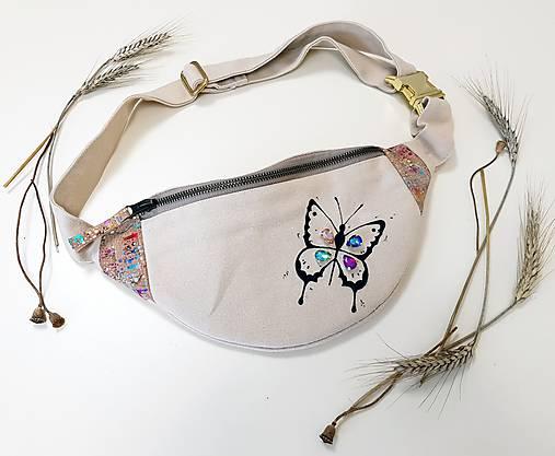 Ľadvinka Butterfly (motýlik) - (kanvas + dubový korok)