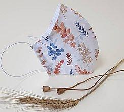 Rúška - Dizajnové bavlnené rúško - Autumn (Medene vetvičky) - 12202852_