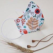 Rúška - Dizajnové bavlnené rúško - Autumn (Lesná lúka) - 12202855_