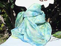 Šatky - Hodvábna šatka - modrá náhoda - 12201805_