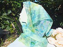 Šatky - Hodvábna šatka - modrá náhoda - 12201806_