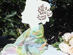 Šatky - Hodvábna šatka - Šípková ruža - 12201786_