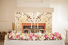 Dekorácie - Aranžmán na svadobný stôl - 12202663_