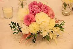 Dekorácie - Aranžmán na svadobný stôl romantický - 12202774_