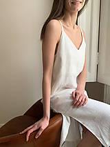 Šaty - Ľanové 'V' šaty (M) - 12202688_