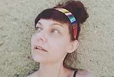 Ozdoby do vlasov - Rainbowka čelenková - 12205331_
