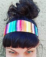 Ozdoby do vlasov - Rainbowka čelenková - 12205334_
