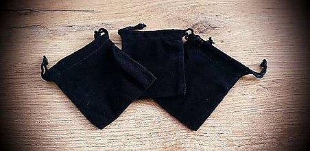 Obalový materiál - Ozdobné vrecúško 70x90 mm - zamatové čierne - 12204312_
