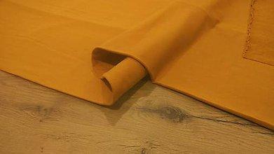 Textil - Teplákovina - cena za 10 cm (Horčicová) - 12205954_