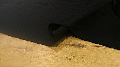 Textil - Teplákovina - cena za 10 cm (Čierna) - 12205957_