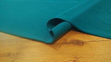 Textil - Teplákovina - cena za 10 cm (Tyrkysová Tmavá) - 12205959_