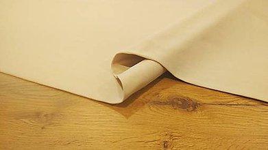 Textil - Teplákovina - cena za 10 cm (Béžová) - 12205961_