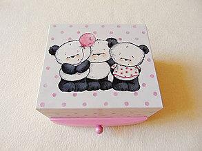 Krabičky - Šperkovnica so zrkadlom Pre dievčatko - 12205297_
