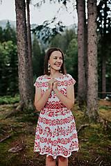 Šaty - krátke šaty potlač Sága krásy - 12203872_