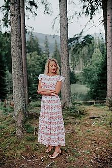 Šaty - midi šaty potlač Sága krásy - 12203878_