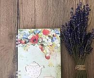 Papiernictvo - Receptárik - rastlinky, vidiek - 12204841_