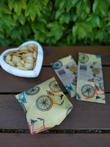 Úžitkový textil - Obrúsok s včelím voskom - bicykel - 12205631_