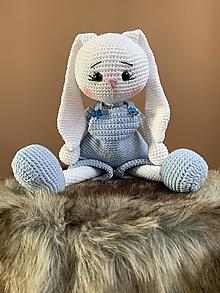 Hračky - zajačik FUFU - v modrom - 12204654_