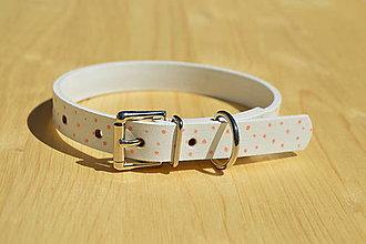 Pre zvieratká - Kožený Blanco obojok - 12205671_