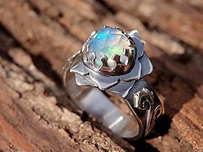 Prstene - Lotosový prsteň - 12205747_