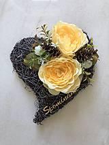 Dekorácie - Srdiečko na hrob - 12204978_