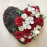 Dekorácie - Srdce na hrob - 12205342_