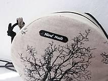 Kabelky - makrónka/ľanová - 12204853_
