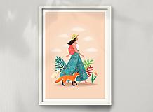 Liška - umělecký tisk