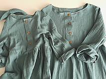 Šaty - Mušelínové šaty mama a dcéra Pepermint - 12206850_