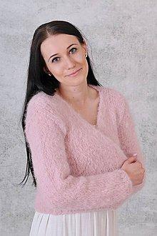 Svetre/Pulóvre - Svadobný hrubší romantický svetrík Nadine (alpaca, vlna) - 12206314_