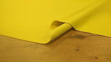 Textil - Teplákovina - cena za 10 cm (Žltá Svetlá) - 12206211_