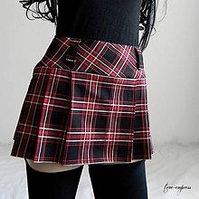 Sukne - Rocková károvaná sukňa - 12207624_