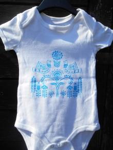 Detské oblečenie - folk body children-body pre deti-tyrkys - 12208103_