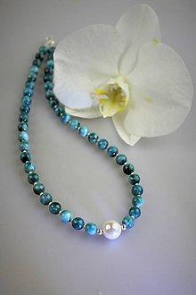 Náhrdelníky - apatit náhrdelník luxusný - 12207221_
