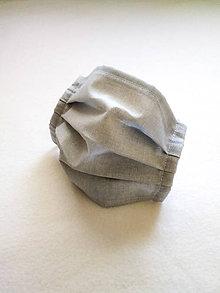 Rúška - Tenké bavlnené rúško pánske, sivé - 12206131_