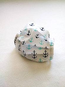 Rúška - Tenké bavlnené rúško detské, kotvičky - 12206149_