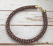 Náhrdelníky - Háčkovaný náhrdelník - 12207235_