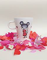 Nádoby - Hrnček myška s farebnou lyžičkou - 12206777_
