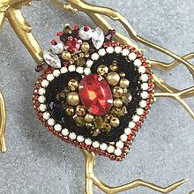 Brošne - Vampire's heart... brož - 12210429_