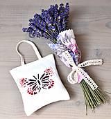 Dekorácie - Levanduľová kytička + levanduľová taštička - 12209386_