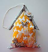 Dekorácie - Žltý domček - 12211435_