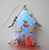 Dekorácie - Modro-ružový domček - 12211447_