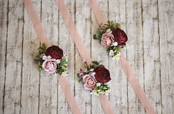 Náramky - Kvetinový náramok - 12211711_