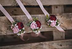 Náramky - Kvetinový náramok - 12211712_