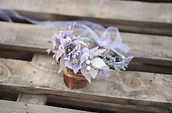 Ozdoby do vlasov - Extravagantný kvetinový venček - 12211717_
