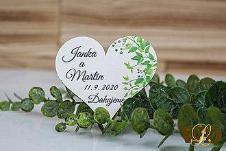 Darčeky pre svadobčanov - Drevené magnetky - 12211042_