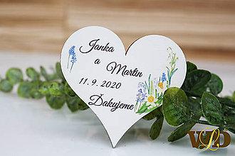 Darčeky pre svadobčanov - Drevené magnetky - 12211046_
