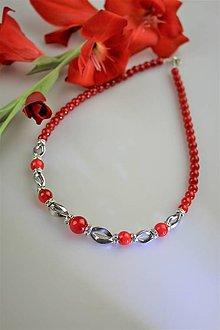 Náhrdelníky - Jadeit s hematitom náhrdelník - 12209599_